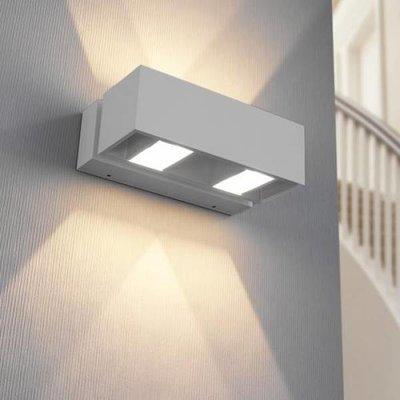 modern LED wandarmatuur IP54 BFELDII Alu