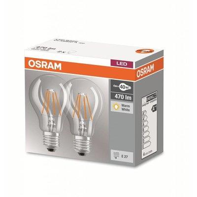 OSRAM Double-sided LED filament E27 4W warm white