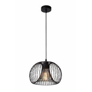 Lucide VINTI - Hanglamp - Ø 30 cm - 1xE27 - Zwart - 02400/30/30