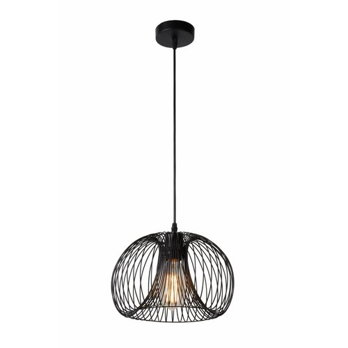 Lucide VINTI - Pendant lamp - Ø 30 cm - 1xE27 - Black - 02400/30/30
