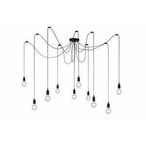 Lucide FIX MULTIPLE - Hanging lamp - 10xE27 - Black - 08408/10/30