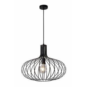 Lucide MANUELA - Hanging lamp - Ø 50 cm - 1xE27 - Black - 78374/50/30