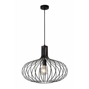 Lucide MANUELA - Hanglamp - Ø 50 cm - 1xE27 - Zwart - 78374/50/30