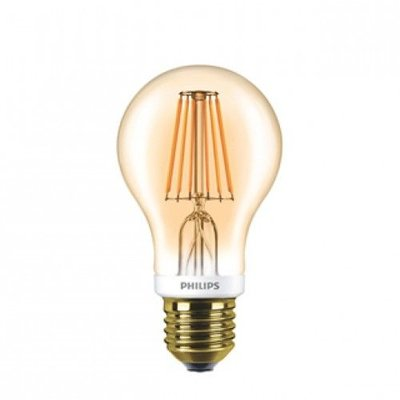 Philips E27 Retro Filament LED Classic 7,5-48W E27 Gold Dimbaar