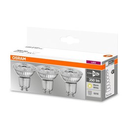 OSRAM Set de 3 LED STAR LEDspots 4.8-50W GU10 blanc chaud