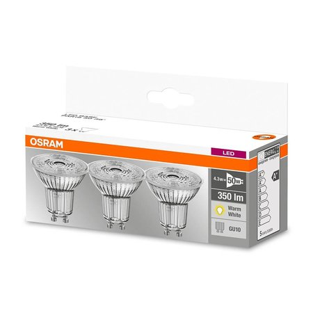 OSRAM set van 3 LED STAR LEDspots 4.3-50W GU10 warm wit