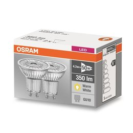 OSRAM STAR GU10 LED blanc chaud 5-50W double pack