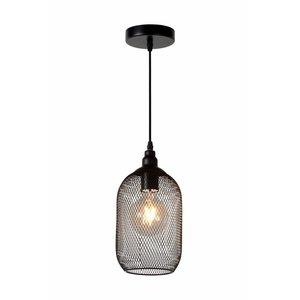 Lucide MESH - Pendant lamp - Ø 15 cm - 1xE27 - Black - 43404/15/30