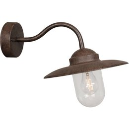 LED Wandlamp Luxembourg in ALU roest IP44