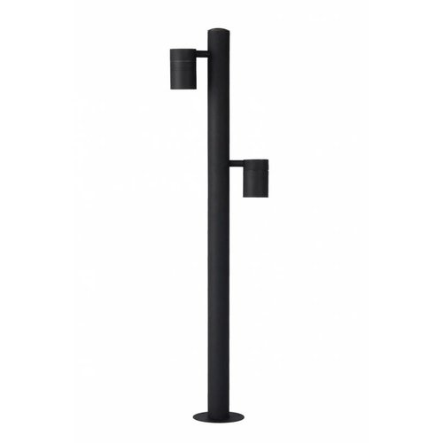 Lucide ARNE-LED - Pedestal lamp Outdoor - Ø 6.3 cm - LED - GU10 - 2x5W 2700K - IP44 - Black - 14867/98/30