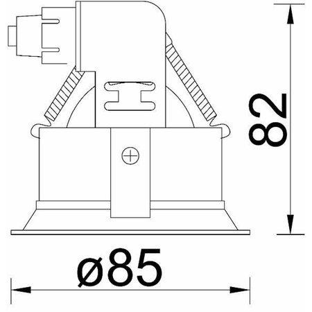 Absinthe Inbouwspot Djup R Hi Deep Zwart 16103-02