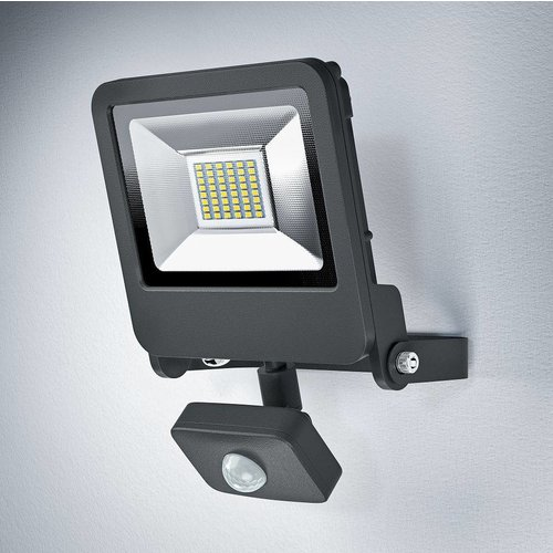 OSRAM Endura LED spotlight 30-200W black + sensor 4058075064348