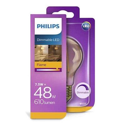 Philips E27 Retro Filament LED Classic 7.5-48W E27 Gold Dimmable