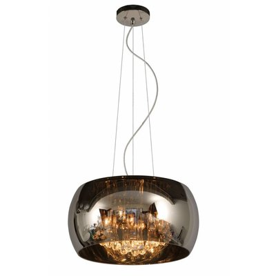 Lucide PEARL - Hanging lamp - Ø 40 cm - G9 - Chrome - 70463/05/11