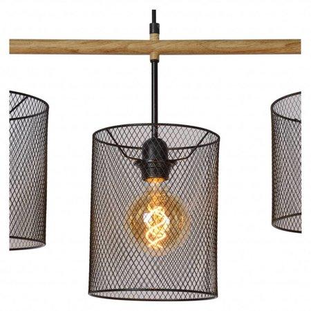 Lucide Vintage Pendelarmatuur BASKETT 45459/04/30Vintage hanglamp BASKETT 45459/04/30