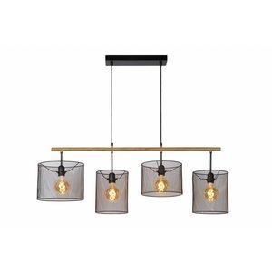 Lucide BASKETT - Pendant lamp - 4xE27 - Black - 45459/04/30