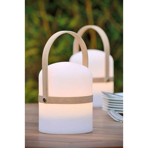 Lucide JOE - Outdoor table lamp - Ø 14.5 cm - LED Dim. - 1x3W 2800K - IP44 - White - 06800/03/31