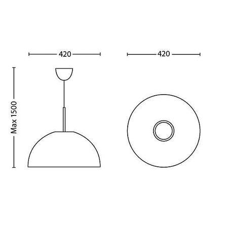 Philips LED Hanglamp myLiving Rye 409073116