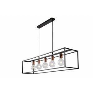 Lucide ARTHUR - Hanglamp - E27 - Zwart -  08424/05/30