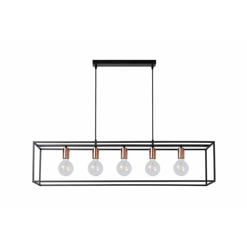 Lucide ARTHUR - Hanging lamp - E27 - Black - 08424/05/30