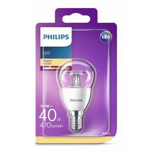 Philips LED kogellamp E14 5,5=40 W warm wit