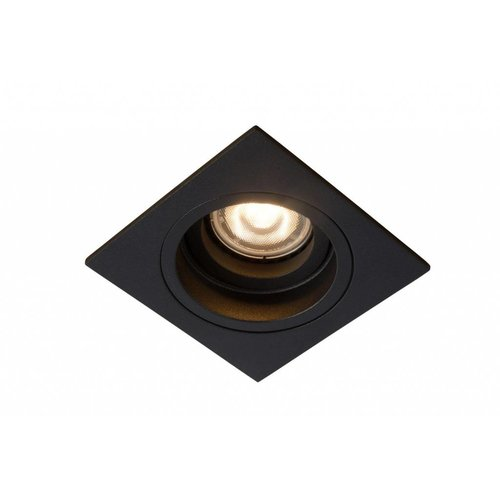 Lucide EMBED - Inbouwspot - 1xGU10 - Zwart - 22959/01/30