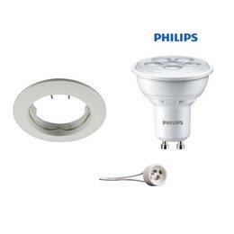 Philips Inbouwspot WIT met GU10 LED 5Watt vast
