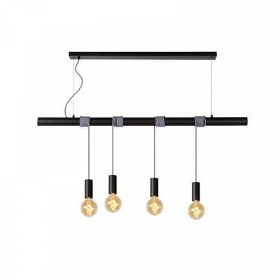 Lucide Hanglamp Jaime Zwart 4-lichts 08425/04/30