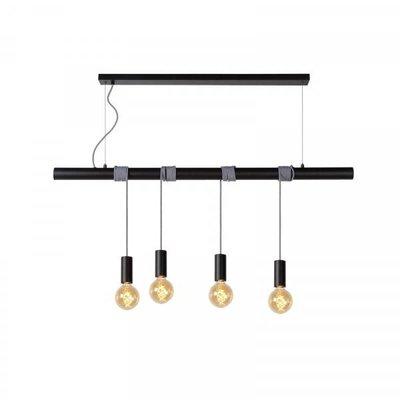 Lucide Jaime hanging lamp Black 4-lights 08425/04/30