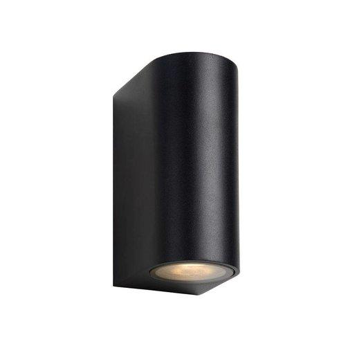 Lucide ZORA-LED - Wall spotlight Outdoor - LED Dim. - GU10 - 2x5W 3000K - IP44 - Black - 22861/10/30