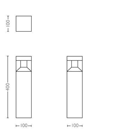 Philips LED tuinpaal Outdoor myGarden Parterre 1648130P0