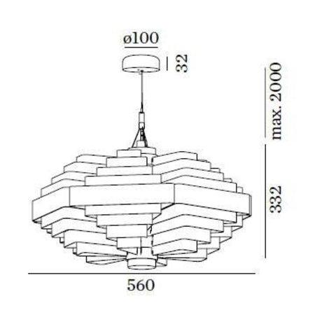 Wever & Ducré LED Design hanging lamp JJW 0.42