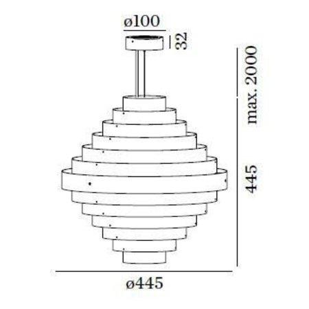 Wever & Ducré LED Design hanglamp J.J.W. 0.5
