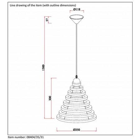 Lucide Tora Hanglamp Ø35cm 08404/35/31