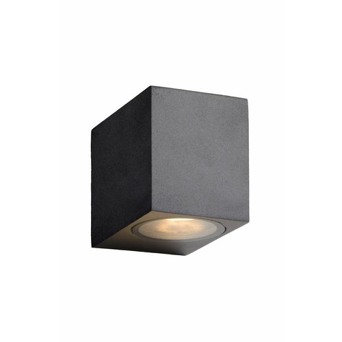 Lucide ZORA-LED - Wall spotlight Outdoor - LED Dim. - GU10 - 1x5W 3000K - IP44 - Black - 22860/05/30