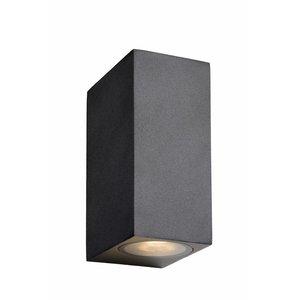 Lucide ZORA-LED - Wall spotlight Outdoor - LED Dim. - GU10 - 2x5W 3000K - IP44 - Black - 22860/10/30
