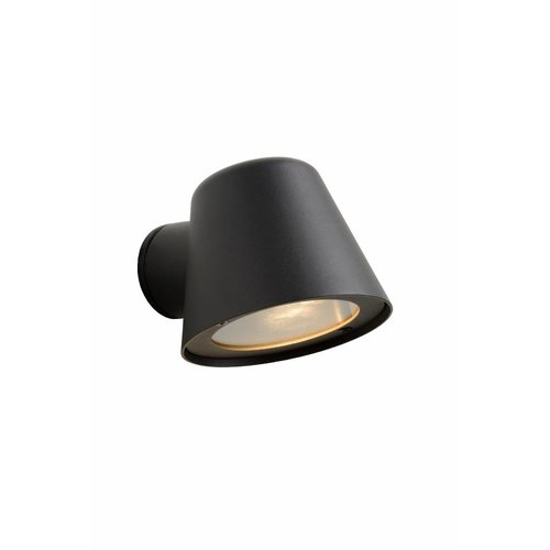 Lucide DINGO-LED - Wandlamp Buiten - LED Dimb. - GU10 - 1x5W 3000K - IP44 - Antraciet - 14881/05/30
