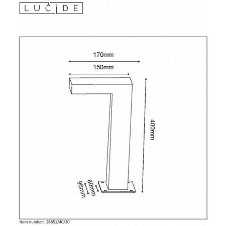 Lucide LED sokkellamp TEXAS Buiten 1x6W