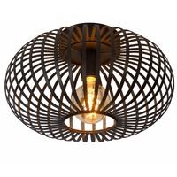 MANUELA - Flush ceiling light - Ø 40 cm - 1xE27 - Black - 78174/40/30