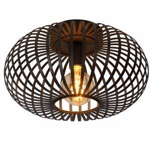 Lucide MANUELA - Flush ceiling light - Ø 40 cm - 1xE27 - Black - 78174/40/30