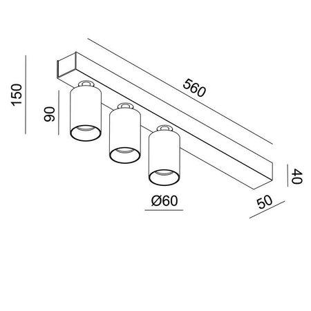 Absinthe Lighting LED Opbouwspot Tuup 3