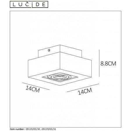 Lucide LED Ceiling Spot Xirax black 09119/05/30