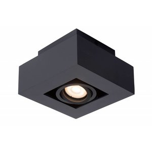 Lucide XIRAX - Plafondspot - LED Dim to warm - GU10 - 1x5W 2200K/3000K - Zwart - 09119/06/30