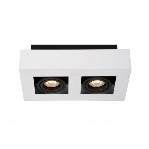 Lucide XIRAX - Ceiling spotlight - LED Dim to warm - GU10 - 2x5W 2200K / 3000K - White - 09119/11/31