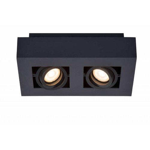 Lucide XIRAX - Ceiling spotlight - LED Dim to warm - GU10 - 2x5W 2200K / 3000K - Black - 09119/11/30
