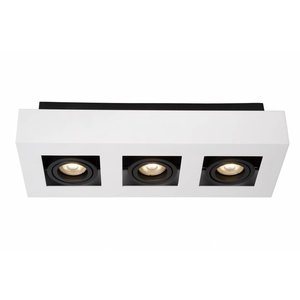 Lucide XIRAX - Ceiling spotlight - LED Dim. - GU10 - 3x5W 3000K - White - 09119/15/31