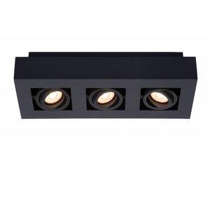 Lucide XIRAX - Plafondspot - LED Dim to warm - GU10 - 3x5W 2200K/3000K - Zwart - 09119/16/30