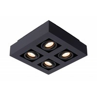 XIRAX - Ceiling spotlight - LED Dim to warm - GU10 - 4x5W 2200K / 3000K - Black - 09119/21/30