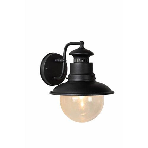 Lucide FIGO - Wandlamp Buiten - Ø 21,3 cm - 1xE27 - IP44 - Zwart - 11811/01/30