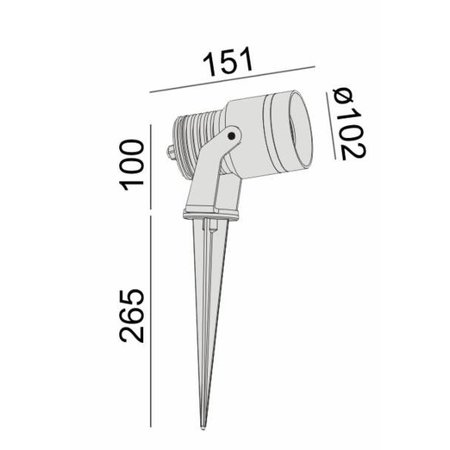 Absinthe Lighting LED grondspot Big Venus Pin